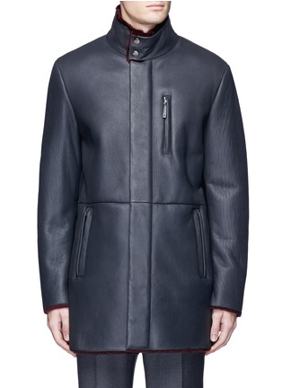 Main View - Click To Enlarge - Armani Collezioni - Shearling coat