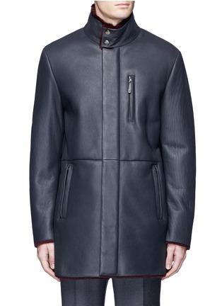 首图 - 点击放大 - ARMANI COLLEZIONI - 羊皮毛一体长款夹克