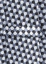 Honeycomb jacquard tie
