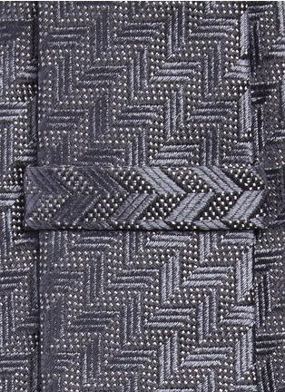 Detail View - Click To Enlarge - Armani Collezioni - Arrowhead jacquard tie