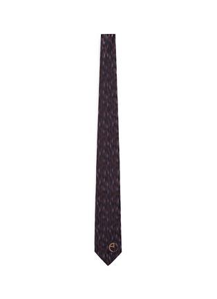 Main View - Click To Enlarge - Armani Collezioni - Diamond jacquard silk tie