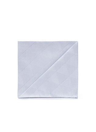 Main View - Click To Enlarge - Armani Collezioni - Diamond jacquard pocket square