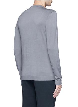 Back View - Click To Enlarge - Armani Collezioni - Diamond motif sweater