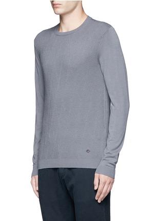 Front View - Click To Enlarge - Armani Collezioni - Diamond motif sweater