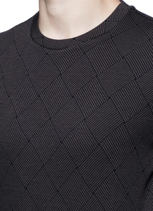 Detail View - Click To Enlarge - Armani Collezioni - Diamond jacquard slim fit sweater