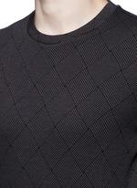 Diamond jacquard slim fit sweater