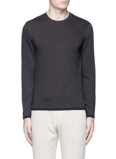 Armani CollezioniDiamond jacquard slim fit sweater