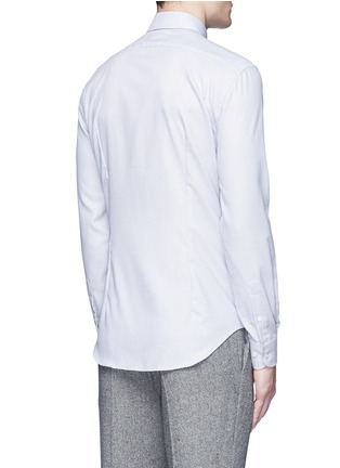 Back View - Click To Enlarge - Armani Collezioni - Slim fit check cotton shirt