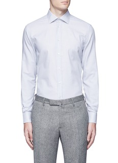 Armani Collezioni Slim fit check cotton shirt