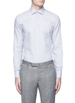 Slim fit check cotton shirt