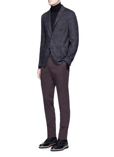 Armani CollezioniGlen plaid soft wool blazer