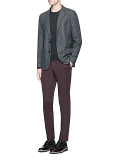 Armani CollezioniDot print felted soft blazer