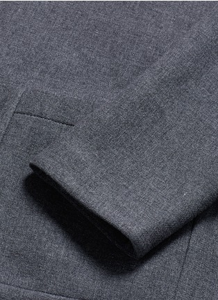 Detail View - Click To Enlarge - Armani Collezioni - Nehru collar bonded wool blouson jacket