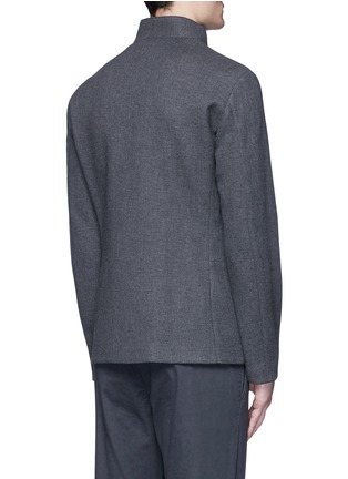 Back View - Click To Enlarge - Armani Collezioni - Nehru collar bonded wool blouson jacket