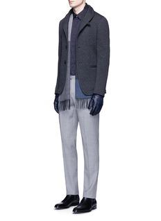 Armani CollezioniDiamond quilted soft blazer