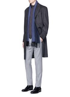 Armani Collezioni'G-Line' wool flannel coat