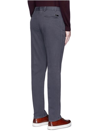 Back View - Click To Enlarge - Armani Collezioni - Regular fit cotton chinos