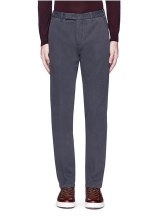 Main View - Click To Enlarge - Armani Collezioni - Regular fit cotton chinos