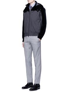 Armani CollezioniVelvet panel blouson jacket