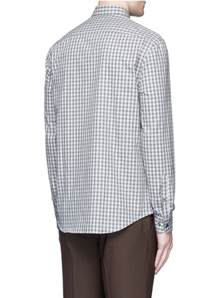 Back View - Click To Enlarge - Armani Collezioni - Gingham check cotton shirt