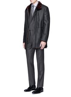 Armani CollezioniTrend' windowpane check wool suit
