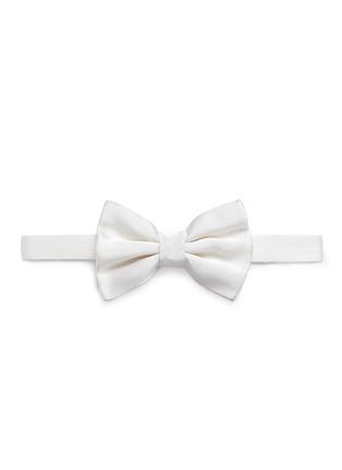 Main View - Click To Enlarge - Armani Collezioni - Silk satin bow tie
