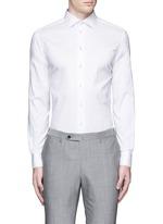 Contrast shoulder cotton shirt