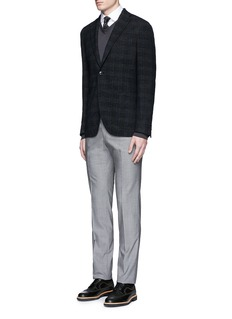 Armani CollezioniContrast shoulder cotton shirt