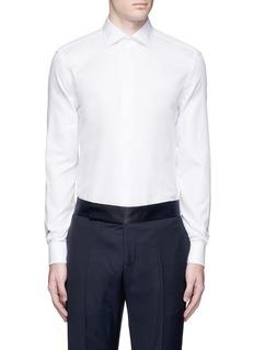 Armani CollezioniTextured cotton tuxedo shirt