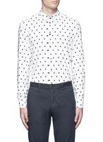 Diamond print cotton blend shirt