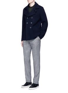 Armani CollezioniSlim fit long sleeve polo shirt