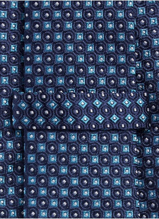 Detail View - Click To Enlarge - Armani Collezioni - Square dot jacquard tie
