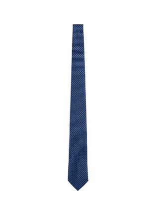 Main View - Click To Enlarge - Armani Collezioni - Square dot jacquard tie