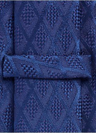 Detail View - Click To Enlarge - Armani Collezioni - Textured diamond jacquard tie