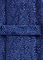 Textured diamond jacquard tie