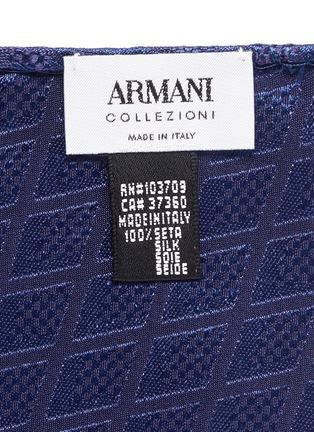 Detail View - Click To Enlarge - Armani Collezioni - Diamond jacquard silk pocket square
