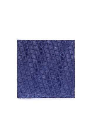 Main View - Click To Enlarge - Armani Collezioni - Diamond jacquard silk pocket square