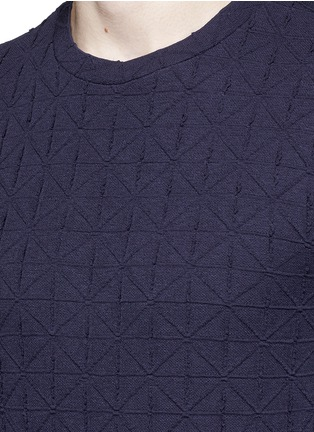 Detail View - Click To Enlarge - Armani Collezioni - Diamond motif sweater