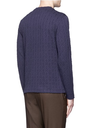 Back View - Click To Enlarge - Armani Collezioni - Diamond motif sweater