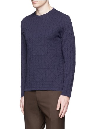 Front View - Click To Enlarge - Armani Collezioni - Diamond motif sweater