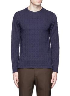 Armani CollezioniDiamond motif sweater