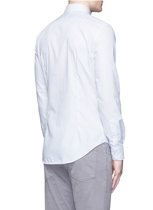 Back View - Click To Enlarge - Armani Collezioni - Check grid cotton shirt