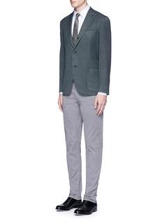 Armani CollezioniCheck grid cotton shirt