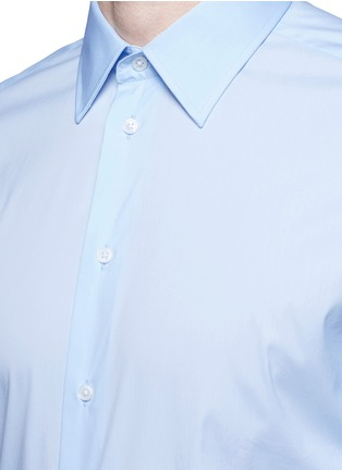 Detail View - Click To Enlarge - Armani Collezioni - Slim fit stretch poplin shirt