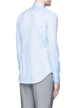 Back View - Click To Enlarge - Armani Collezioni - Slim fit stretch poplin shirt