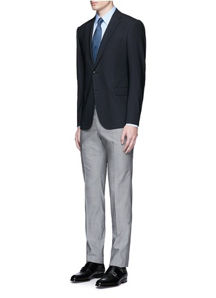 Figure View - Click To Enlarge - Armani Collezioni - Slim fit stretch poplin shirt