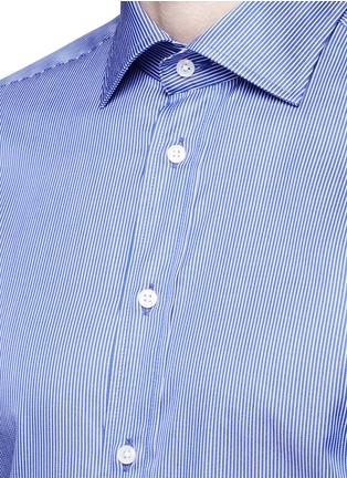 Armani Collezioni-Slim fit stripe cotton shirt