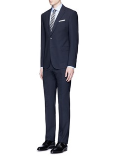 Armani CollezioniContrast dobby stripe cotton shirt