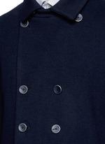 Wool blend flannel peacoat