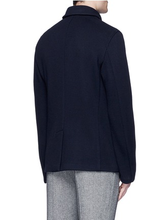 Back View - Click To Enlarge - Armani Collezioni - Wool blend flannel peacoat